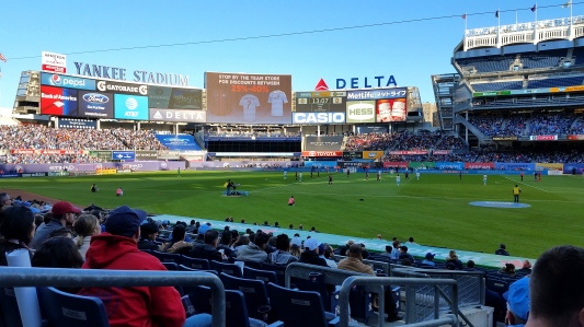 As much as we love the place, the Yankee Stadium field is ill-suited for soccer.